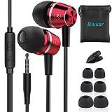 Blukar In Ear Kopfhörer, Stereo Ohrhörer mit Mikrofon Kopfhörer HiFi-Klang, mit Weichen und...
