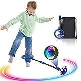 Kqpoinw Kinder Blinkender Springring, Knöchelsprungball Glühender Springender Ball Blinkender...
