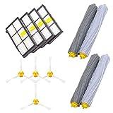 Ersatzteile für iRobot Roomba 860 880 805 860 980 960 Staubsauger mit 4st Bürstenfilter