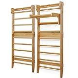 Sprossenwand aus Holz - für Kinder und Erwachsene, 195 x 80 x 14 cm, bis ca 100 kg Max. belastbar,...