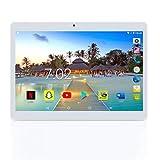 Android Tablet 10 Zoll mit SIM-Steckplatz - YELLYOUTH 10.1' Quad Core 4GB RAM 64GB Speicherraum...
