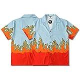 XIAOMEIO Fashion High Street Flamme Drucken Hawaii Hemd Männer Baggy Komfortabel Freizeithemden...