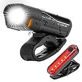 Aclouddate USB Wiederaufladbare LED Fahrradlicht Set Lumen Superhelle Scheinwerfer Frontlichter und...