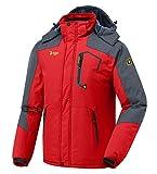 donhobo Herren Winter wasserdichte Winddichte Winterjacke Warme Fleece-Futter Ski Jacken Regenmantel...