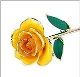 WCY Gold Rose Blume, Goldfolie Künstlich für Immer Rose, mit Kostenloser Luxus-Geschenkbox, Der...