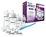 Philips Avent Natural Flaschenset SCD301/02 für Neugeborene (125 und 260 ml, 4 zusätzliche Sauger...