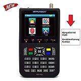 KKmoon sat finde Digital Satellite Finder mit 3,5 Zoll LCD Digitalanzeige Neue Version (Deutsche...