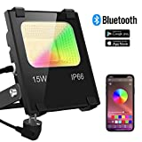 LED Strahler RGB Strahler 15W Fluter Außen Bluetooth APP-Steuerung 16 million Farben und 20 Modi...