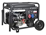 HYUNDAI Benzin-Generator HY10000LEK-T D, Notstromaggregat mit 9.4kVA (400V) / 7.5kW (230V) Leistung,...