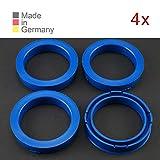 KONIKON 4X Zentrierringe 73,10 x 57,10 mm Blau Felgen Ringe Radnaben Zentrierring Adapterring Ring...