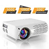 Beamer,5000 Lux Video Projektor (550 ANSI) Crenova XPE660 unterstützt Full HD 1080P Heimkino Beamer...