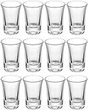 12 Schnapsgläser Shotgläser Set Glas 4cl - Standfest - Spülmaschinenfest - Pinnchen Gläser für...