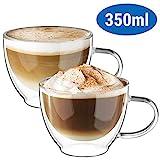 ecooe Doppelwandige Cappuccino Tassen Glaser Latte Macchiato Glaser Set Trinkglser Kaffeeglas...