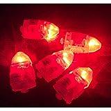 10pcs Superbright Ballon beleuchtet LED Mini Party Licht für Papier Laternen (rot)