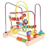 Fenteer Holzspielzeug Motorikschleife Perlen Labyrinth Montessori Spielzeug für Wahrnehmung von...