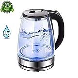 YOLL 1.7 Liter Glaswasserkocher, 1500 Watt Kabellose Abschaltautomatik,Elektrokocher Teekessel...