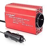 Wechselrichter 200W 12V zu 230V 2 USB-Euro-Steckdosen Kfz-Spannungswandler...