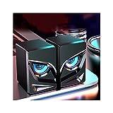 KOLOSM PC Lautsprecher PC-Gaming-Lautsprecher, 2.0-Kanal-Stereo-Desktop-Computer-Soundleiste...