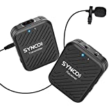 SYNCO Lavalier Funkmikrofon G1(A1), 2,4GHz Kabellos Ansteckmikrofon System, Wireless Microphone Mics...