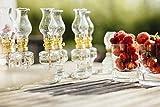 Öllampe aus Glas mit goldener Drehfassung 21 cm | Petroleumlampe mit Baumwolldocht | Perfekt für...
