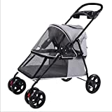 Pet Trolley Kinderwagen Pet 4 Wheels Travel Kinderwagen Dog Cat Kinderwagen Bequeme...