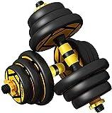 BATOWE Einstellbare Fitness-Dummköpfe Set 20kg einstellbare Hantelgewichte eingestellt mit...