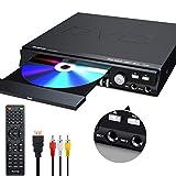 Gueray Kompakter DVD Player, DVD-Player All Regionen mit 2 MIC Ports/USB-Eingang/HDMI/AV und...