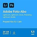 Adobe Creative Cloud Foto-Abo mit 20GB: Photoshop und Lightroom | 1 Jahreslizenz | PC/Mac Online...