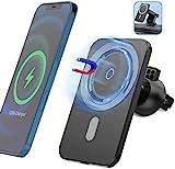 LUOWAN 15W Halterung für Magnetische Kabellose Autoladegeräte für IPhone 12 Pro Max MiNi Magsafe...