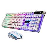 Tastatur und Maus Set Gaming Wired Maus und Computer Tastatur Set Rainbow LED USB fr PC Laptop PS4...