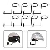 Kaibrite 8 Stück Motorrad Helm Anzeige Rack Fahrrad Helm Halter Aufbewahrung Halter Wand...
