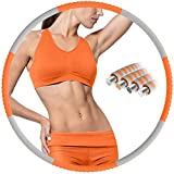 BIAOQINBO Hula Reifen Hoop Erwachsene Fur Fitness,mit Stabiler Edelstahlkern und Premium Schaumstoff...