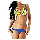 Meclelin Damen Bikini Push Up Bademode Set Zweiteilige Badeanzug Strandkleidung Triangel Oberteil...