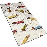 Dackel, niedlicher Hund Mikrofaser personalisierte Handtücher Perfekt für Fanily Travel Sport und...