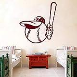 yaonuli Wandaufkleber Vinyl Aufkleber Sport Baseball 162x57cm
