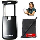 EasY Magnifier Taschen-Leselupe 3Fach Mit Hellem LED-Licht; Beste Kleine Beleuchtete-Lupe Mit...