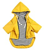 Morezi Hunderegenmantel mit Reißverschluss und Kapuze, regen-/wasserabweisend, verstellbarer...