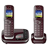 Panasonic KX-TGJ322GR Familien-Telefon mit Anrufbeantworter (schnurloses Telefon DUO, 2 Mobilteile,...