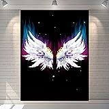 KHKJ Nordic Angel Wing Wanddekoration Wandteppich Hintergrund Stoff Nachttisch Schlafsaal...