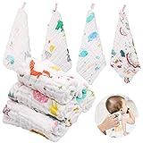 ABirdon 10 Stück Baby Musselin Waschlappen, 100% Bio-Baumwolle Weiche Baby Handtuch, Mehrzweck Baby...
