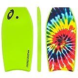 Osprey Kinder/Erwachsene Tie Dye Bodyboard mit Leine, XPE Board mit Crescent Tail–104,1cm,...