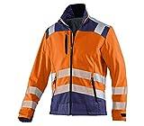 KÜBLER Workwear KÜBLER REFLECTIQ Warnschutzjacke warnorange, Größe S, Unisex-Arbeitsjacke aus...