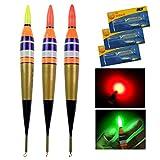 QualyQualy 3 Stück LED Posen Angelposen Nachtangeln Leuchtpose 1#