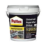Pattex Universal Reparatur Silikon, Dichtmasse zum regenfesten Reparieren von Rissen, Löchern &...