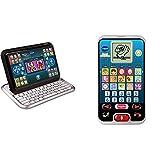 VTech 80-155504 Tablet 2-in-1, White/Black & 80-139304 - Smart Kid's Phone