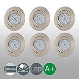LED Einbaustrahler ultra Flach Inkl. 6 x 5W 400lm LED Modul IP23 schwenkbare Einbauleuchten...