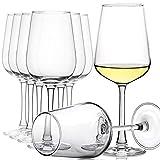 CREST 8 er Set Weingläser Set, Kristallglas, 360 ml, Geschenk für Geburtstag, Jahrestag & zur...