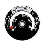 luckything Kamingebläse-Thermometer, magnetisches Ofenthermometer Kamin-Thermometer mit großem...