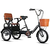WGYDREAM Dreirad Für Erwachsene Erwachsene Dreirad Faltendes 16-zoll-3-rad-fahrrad Einfache Moderne...