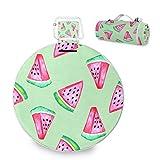 Große Picknickdecke mit Wassermelonen-Motiv, wasserdicht, praktisch, für Familie, Camping, Strand,...